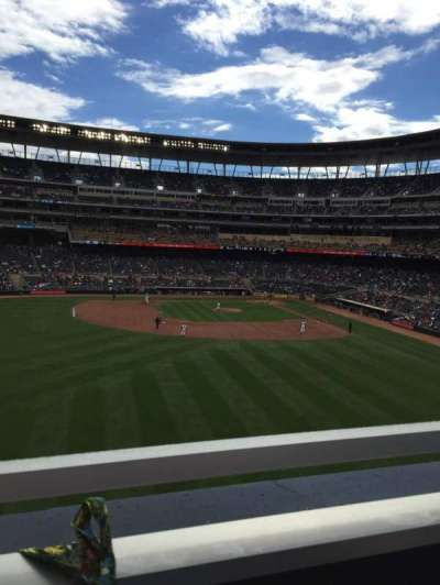 Target Field, section: 231, row: 1, seat: 19