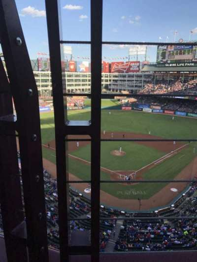 Globe Life Park in Arlington, section: 325, row: 1, seat: 9