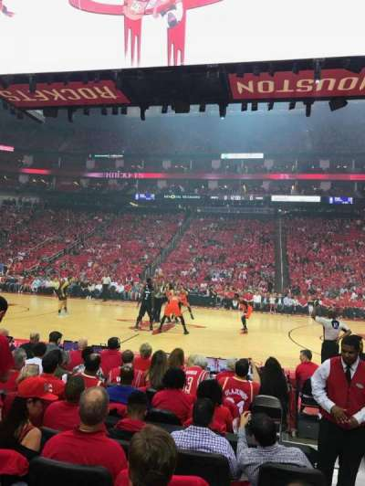 Toyota Center, section: 120, row: 5, seat: 2