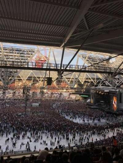 London Stadium, section: 208, row: 67, seat: 15
