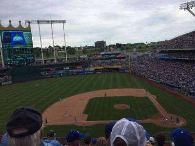 Kauffman Stadium, section: 412, row: F, seat: 11