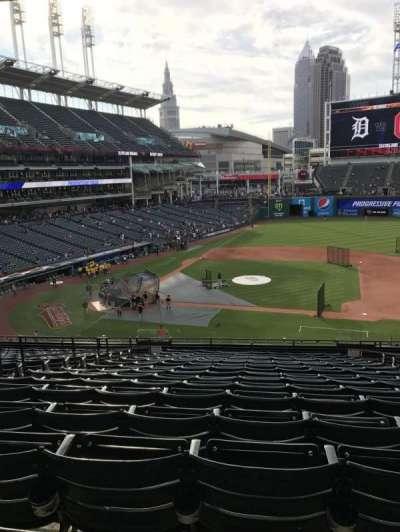 Progressive Field, section: 344, row: R, seat: 5