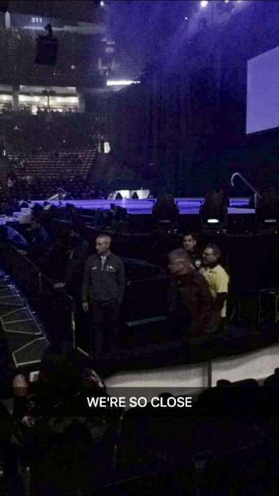 Air Canada centre, section: 118, row: cant remember,