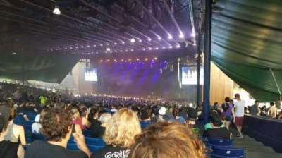 Merriweather Post Pavilion, section: Right Center, row: PP, seat: 54