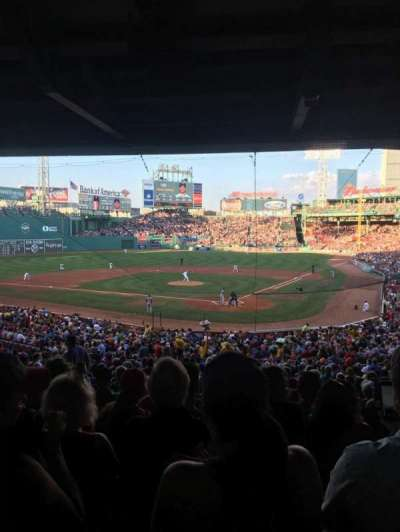 Fenway Park, section: Grandstand 22, row: 12, seat: 15