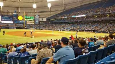 Tropicana Field, section: 125, row: P, seat: 10