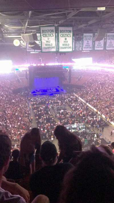 TD Garden, section: 310, row: 15, seat: 13