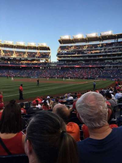 Nationals Park, section: 110, row: M, seat: 10