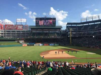 Globe Life Park in Arlington, section: 18, row: 28, seat: 3