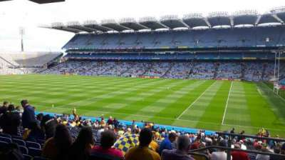 Croke Park, section: 327, row: RR, seat: 18