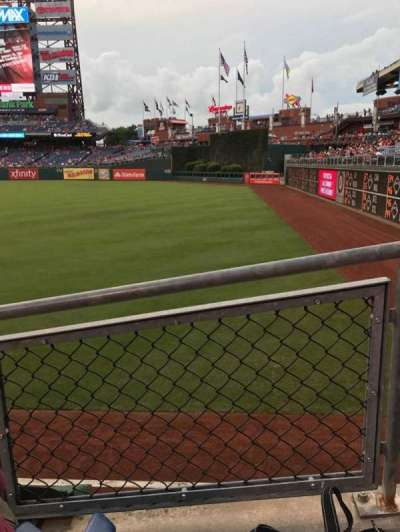 Citizens Bank Park, section: 108, row: 17, seat: 11