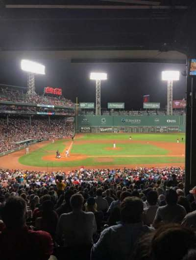 Fenway Park, section: 17, row: 11, seat: 9