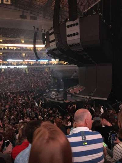 American Airlines Center, section: 105, row: W, seat: 9