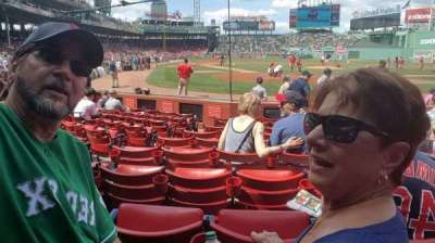 Fenway Park, section: Field Box 47, row: F, seat: 3