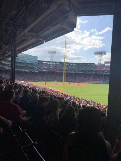 Fenway Park, section: Grandstand 5, row: 5, seat: 2