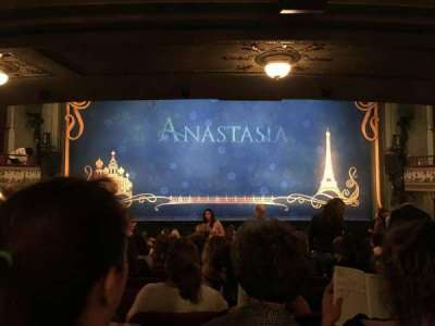 Broadhurst Theatre, section: ORCH, row: Q, seat: 106
