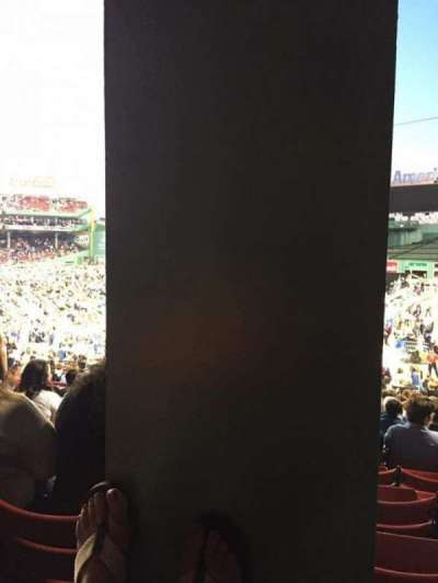 Fenway Park, section: Grandstand 6, row: 1, seat: 7