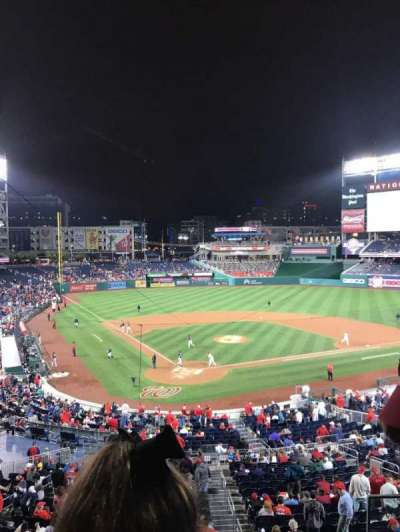 Nationals Park, section: 215, row: B, seat: 3