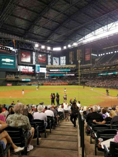 Chase Field, section: 127, row: 21, seat: 3
