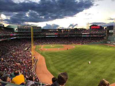 Fenway Park, section: Budweiser Roof Deck, row: 3, seat: 21