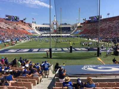 Los Angeles Memorial Coliseum, section: 15H, row: 18, seat: 101