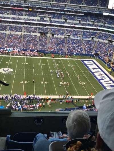 Lucas Oil Stadium, section: 639, row: 4
