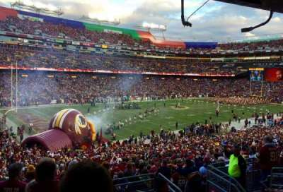 FedEx Field, section: 206, row: 7, seat: 5