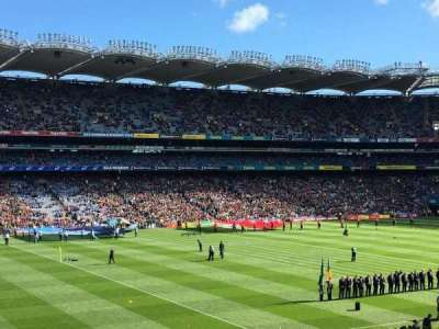 Croke Park, section: 335, row: RR, seat: 20