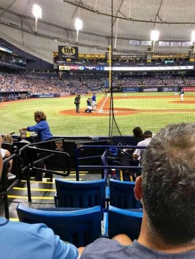 Tropicana Field, section: 110, row: K, seat: 1,2