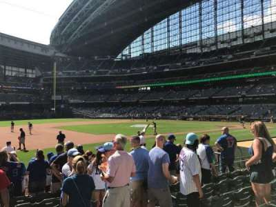Miller Park, section: 124, row: 10, seat: 3