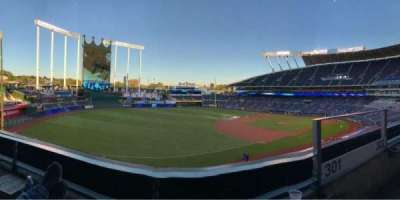 Kauffman Stadium, section: Bench, row: A, seat: 2