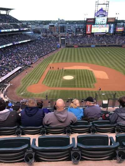 Coors Field, section: L325, row: 9, seat: 5