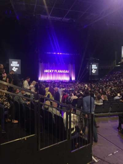 The O2 Arena, section: 106, row: AA, seat: 165-166