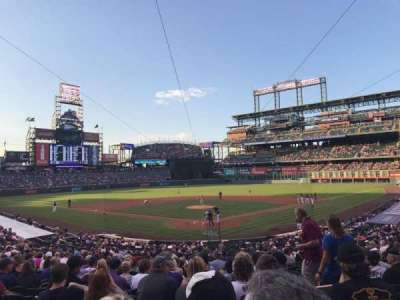 Coors Field, section: 131, row: 30, seat: 3