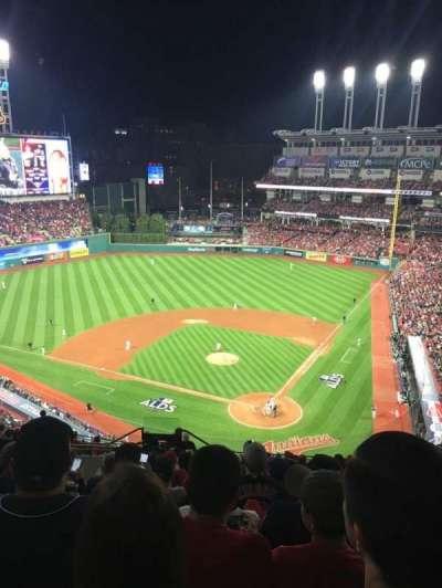 Progressive Field, section: 556, row: N, seat: 14