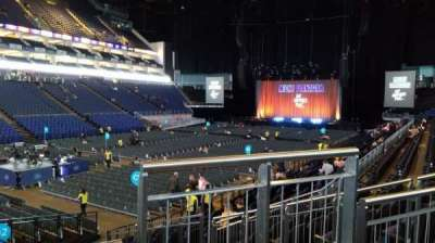 The O2 Arena, section: 109, row: P, seat: 264