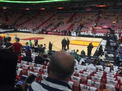 American Airlines Arena, section: 105, row: 12, seat: 11