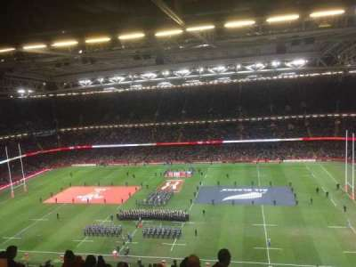 Principality Stadium, section: U7, row: 28, seat: 5