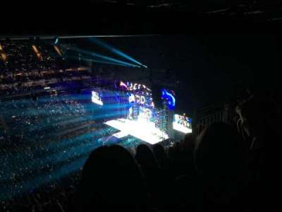 The O2 Arena, section: 418, row: S, seat: 888