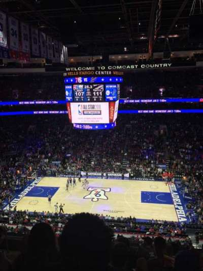 Wells Fargo Center section 214