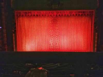New Amsterdam Theatre, section: Mezzanine, row: AA, seat: 108