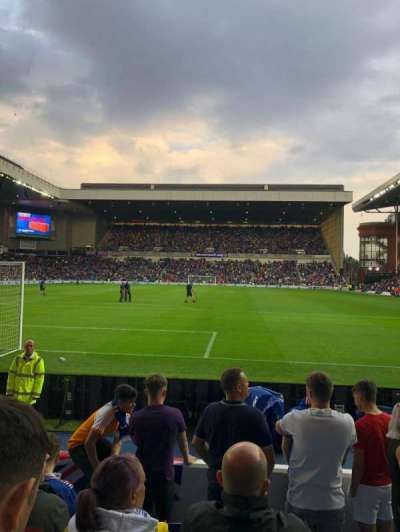 Ibrox Stadium, section: Broomloan Front, row: G, seat: 65