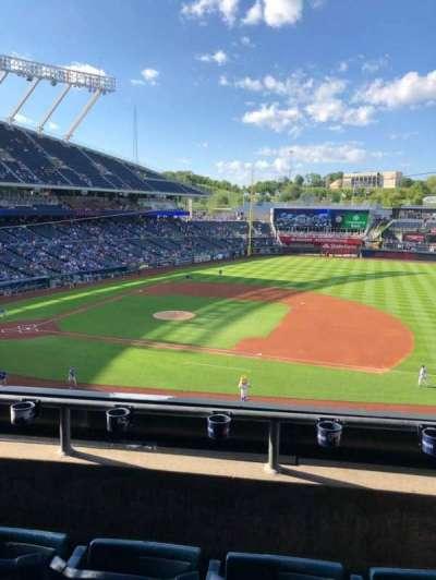 Kauffman Stadium, section: 318, row: C, seat: 3
