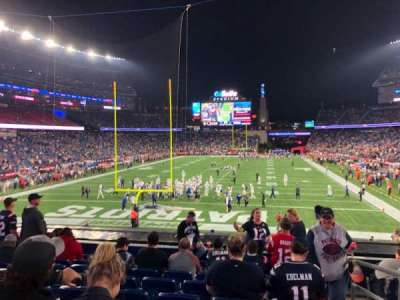 Gillette Stadium, section: 120, row: 26, seat: 1