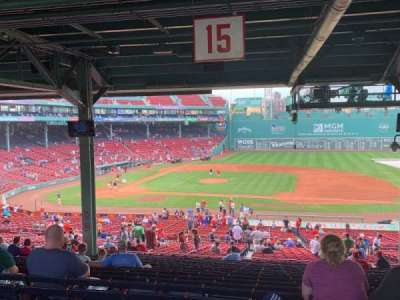 Fenway Park section Grandstand 15