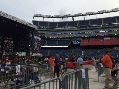 Gillette Stadium, section: B5, row: 2, seat: 12