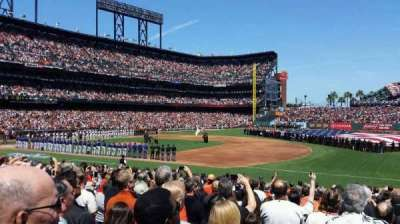 AT&T Park, section: 105, row: 19, seat: 8