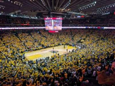 Oracle Arena, section: M15, row: 2, seat: 3
