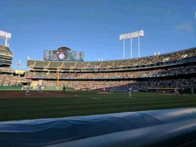 Oakland Alameda Coliseum, section: 3BFB, row: 1, seat: 9