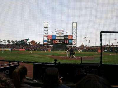 AT&T Park, section: DC115, row: CCC, seat: 13